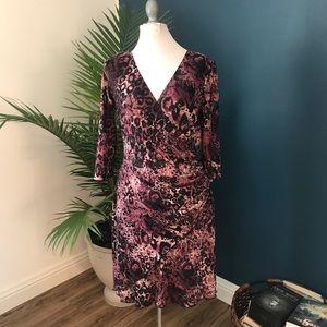 Joseph Ribkoff purple dress size 10 stretch